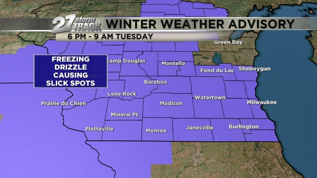 Winter Weather Advisory for freezing drizzle
