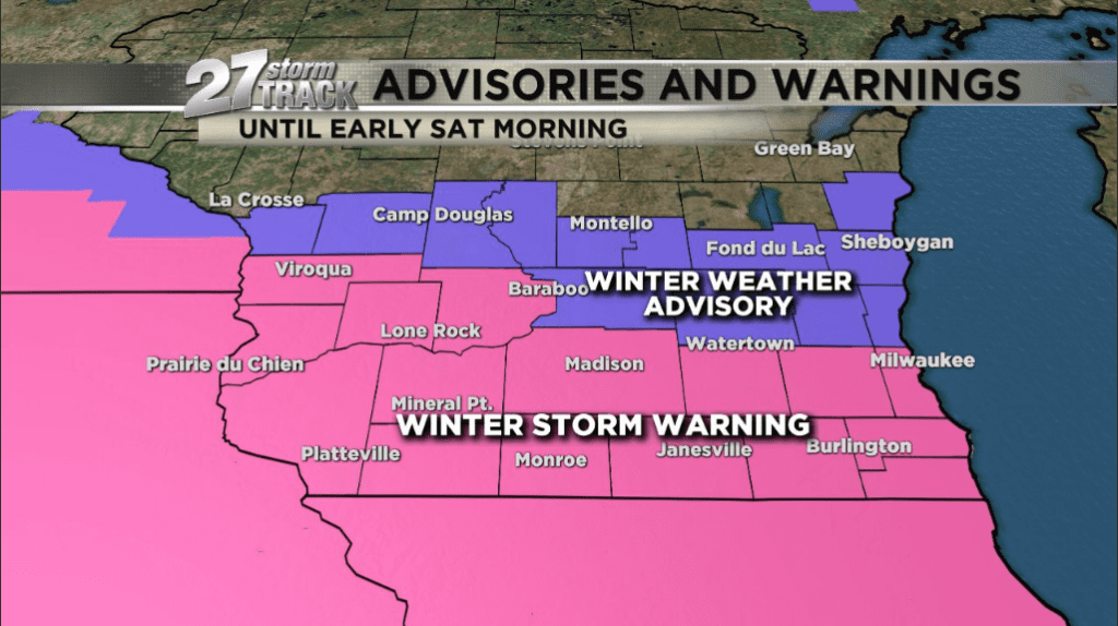 Saturday Morning Snow In Madison >> Significant Snow Overnight Wkow A Winter Storm Warning Is In