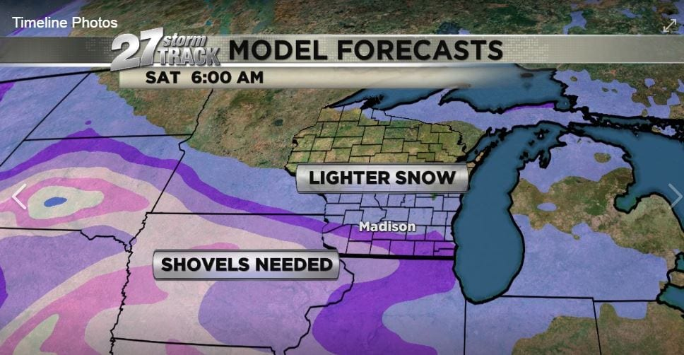 Saturday Morning Snow In Madison >> Next Snow Storm Possible Friday Night Into Saturday Morning Wkow