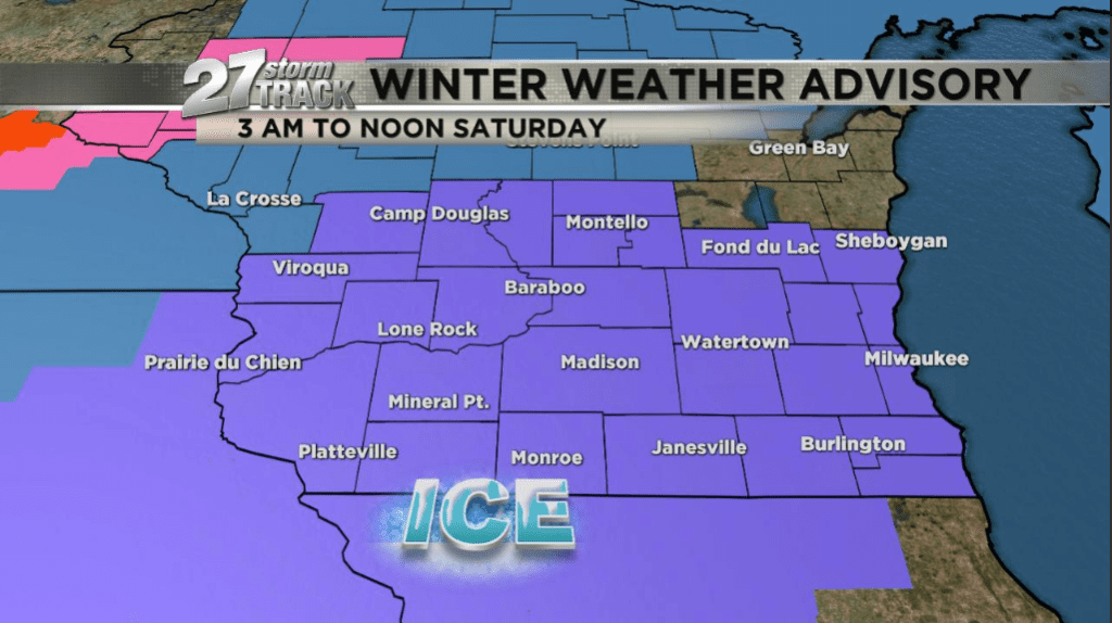 Wintry mix will create slick spots this morning