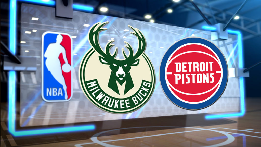 Antetokounpo leads Bucks past Pistons for 2-0 series lead