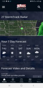 Download the 27 StormTrack weather app - WKOW