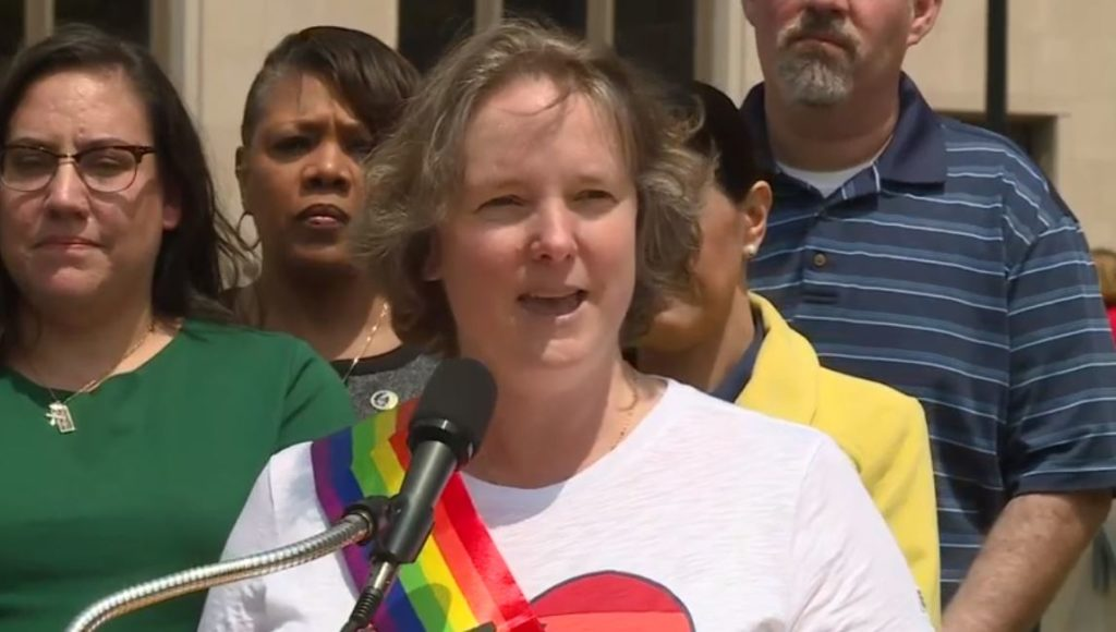 Rhodes-Conway celebrates historic achievement with kick-off to Pride