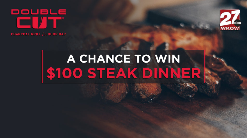 Win a gift card to the Double Cut Charcoal Grill at the Kalahari
