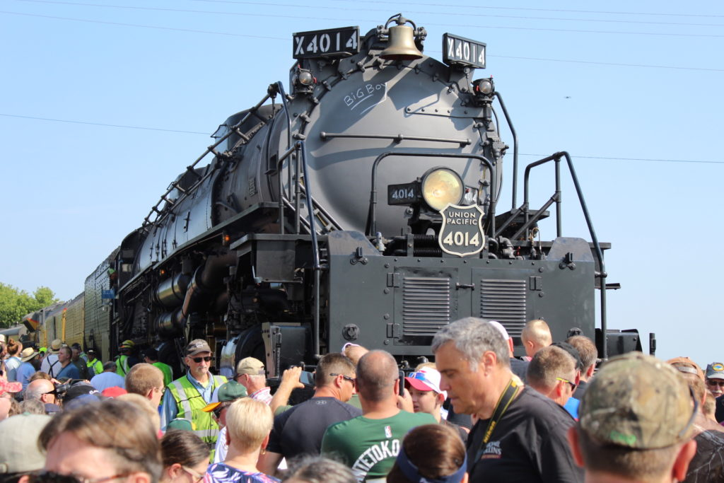 Big Boy,' among world's largest locomotives, chugs through