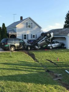 Photo shows aftermath of wild crash in Manitowoc County - WKOW