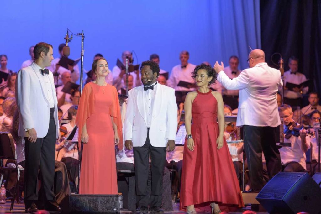 A performance by Madison Opera in conjunction with Opera in the Park.