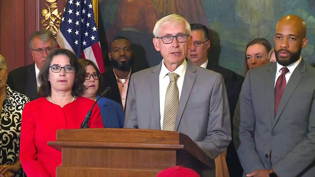 Evers calls on Republicans to support gun background check bill