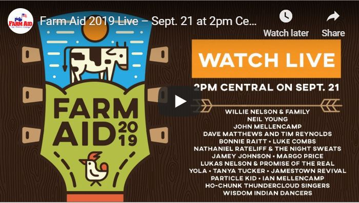 WATCH LIVE: Farm Aid 2019 beginning at 2 p.m Saturday