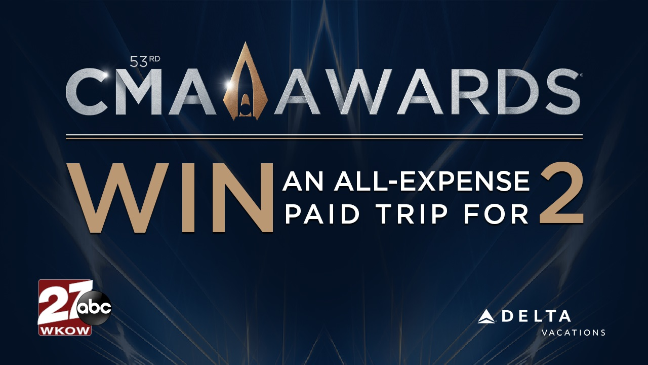 Win an all-expense paid trip to the 2019 Country Music Association Awards show