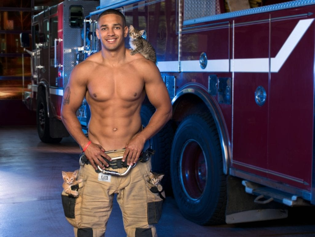 Madison firefighters create calendar with DCHS to help animals in need