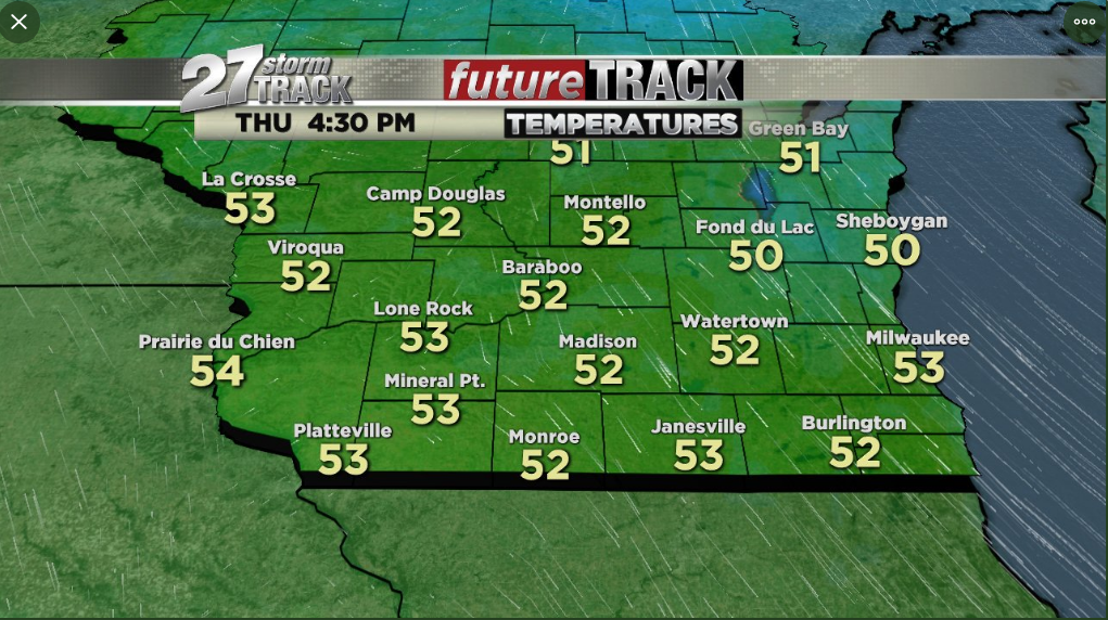 Winds diminish tonight, leading to a pleasant but cool Thursday