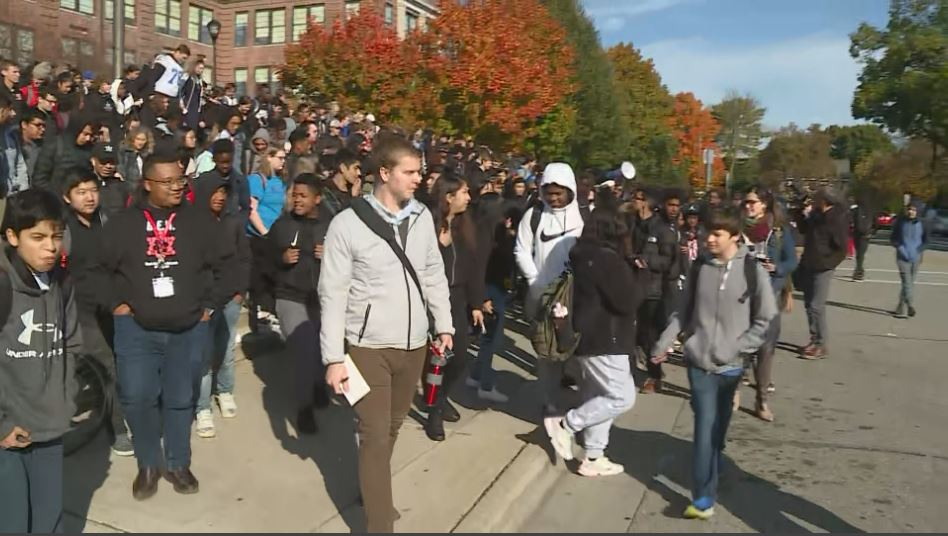 Students walkout of Madison West High School in support of fired staff member - WKOW