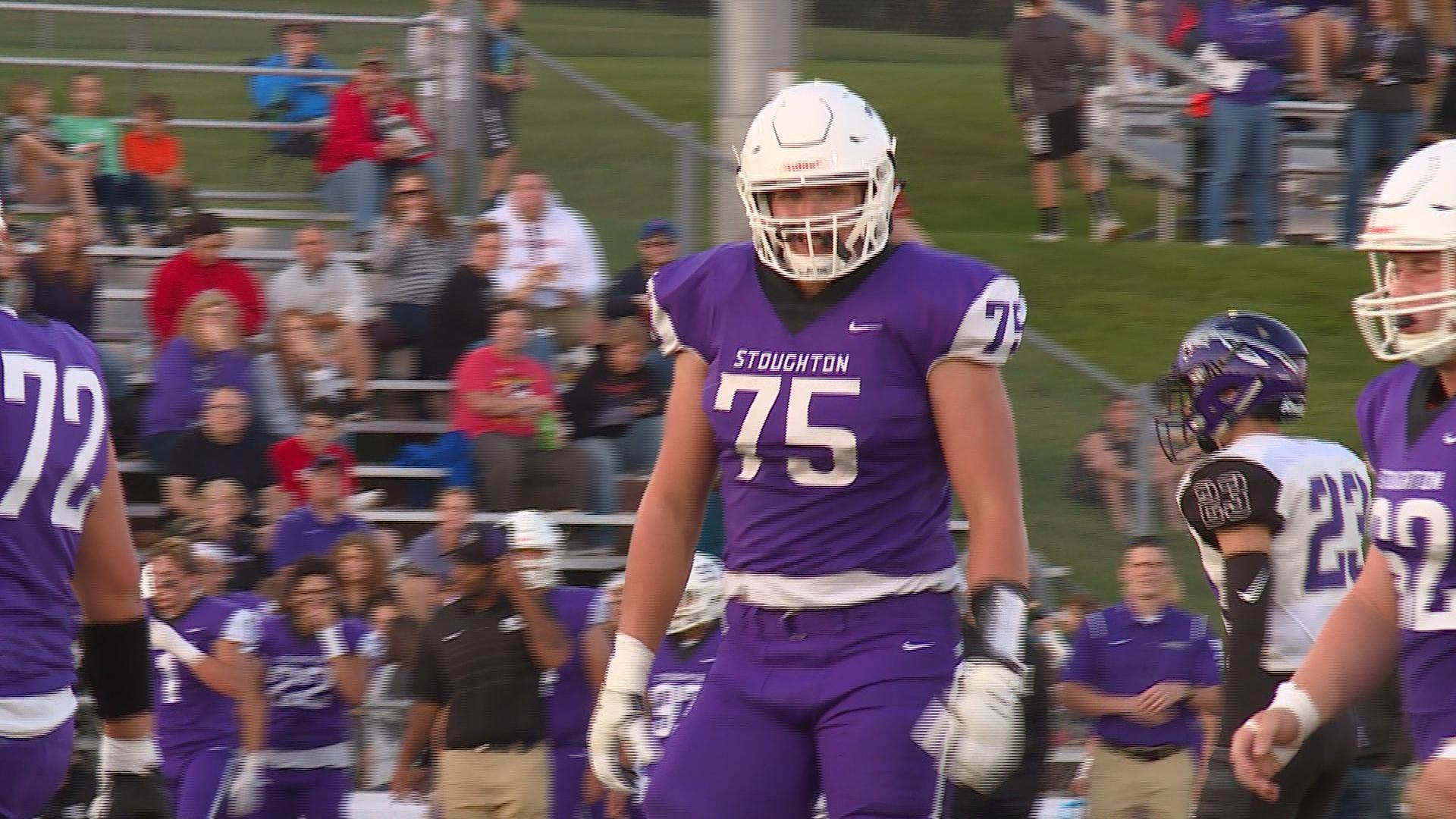 Stoughton OL receives All-American Bowl Jersey