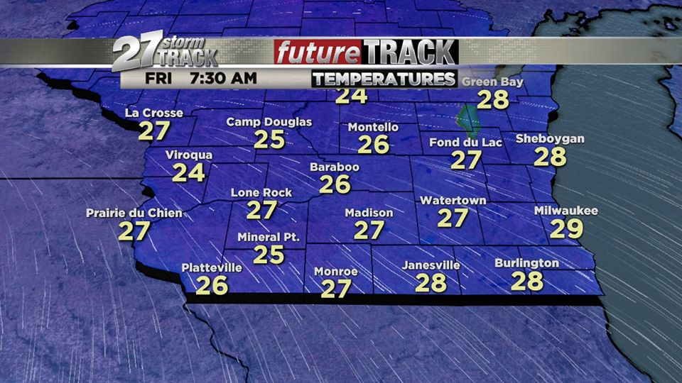 Flash freeze possible overnight into Friday morning