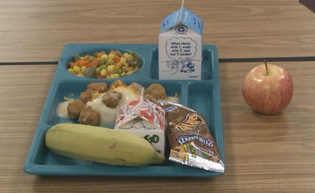 School lunches could potentially be impacted by federal government shutdown