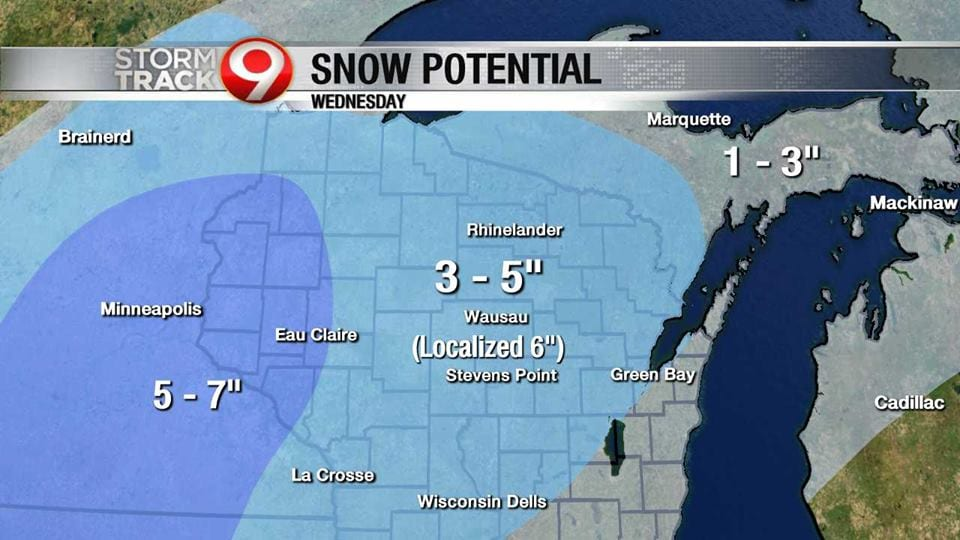 Get ready for the snow Wednesday, more on the weekend