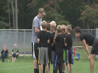 Lakeland Union Football Players Coach Youth Flag Football