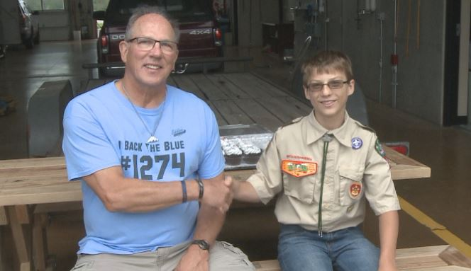 Eagle scout project honors fallen detective Jason Weiland
