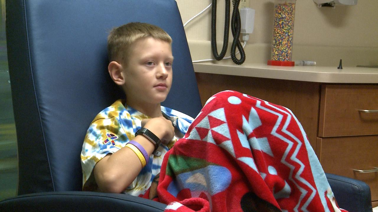 Hewitt boy battles two cancers, bringing awareness to childhood cancer