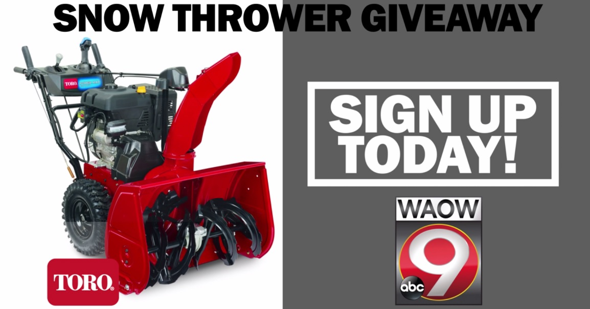 ENTER HERE: Snow Thrower Giveaway Contest