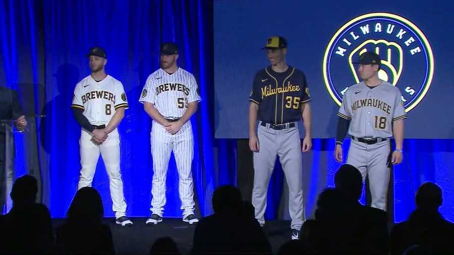 Milwaukee Brewers new uniforms feature ball-in-glove emblem as primary logo