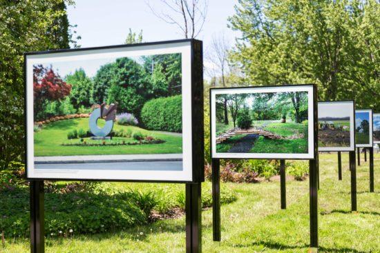photos de l'exposition au lac du village