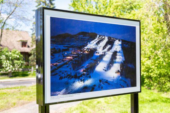 photo de l'exposition au lac du village