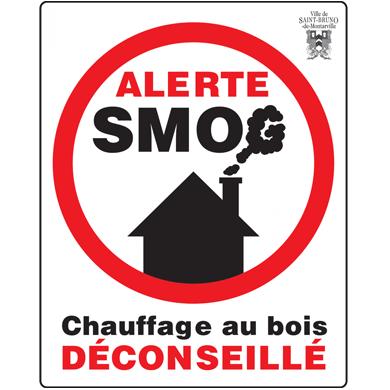 affiche alerte de smog