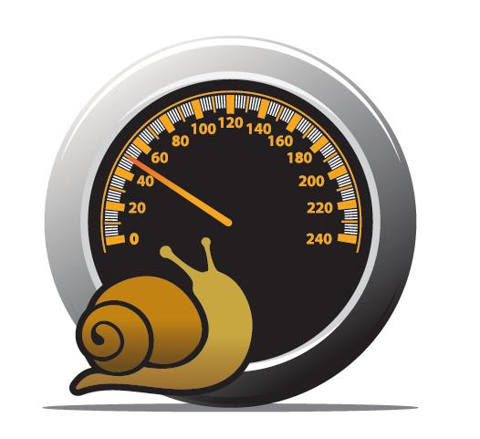 compteur de vitesse avec un escargot