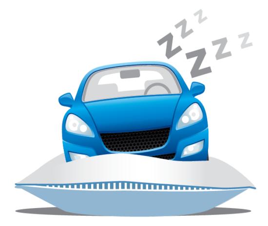 image de voiture qui dort