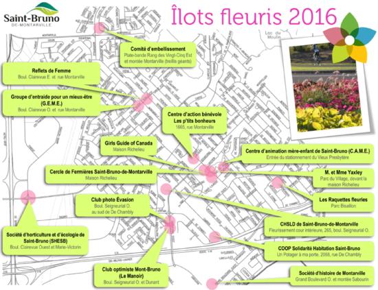 carte des ilots fleuris