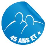 logo 45 ans et plus