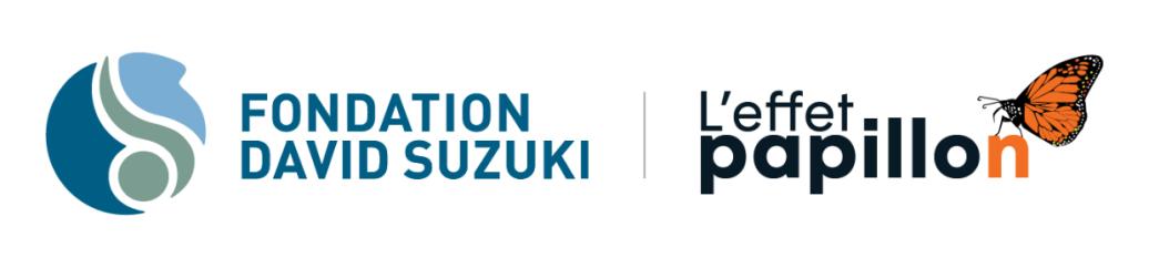 logos Fondation David Suzuki et logo Effet papillon