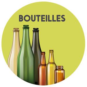 récupération du verre, bouteilles