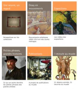 capture d'écran du site web du musée d'Orsay