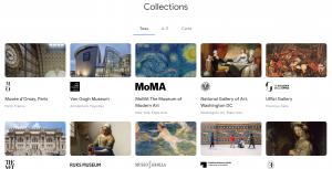 capture d'écran du site arts et culture