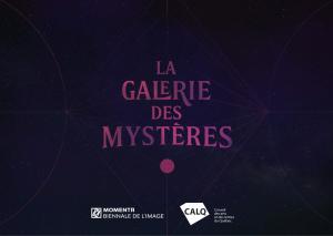page d'accueil de la galerie des mystères