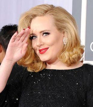 Adele's 2012 Grammy Louboutin nails 1