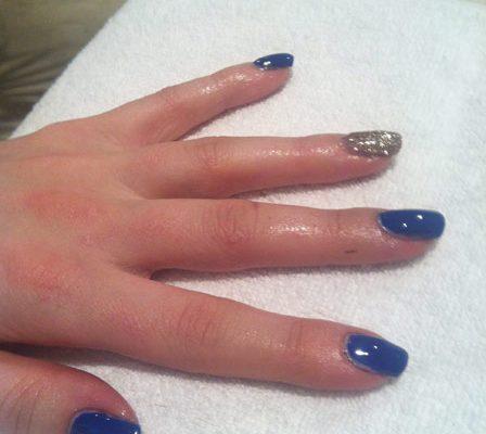 Hot blue nail trend Heather Dierkens spring