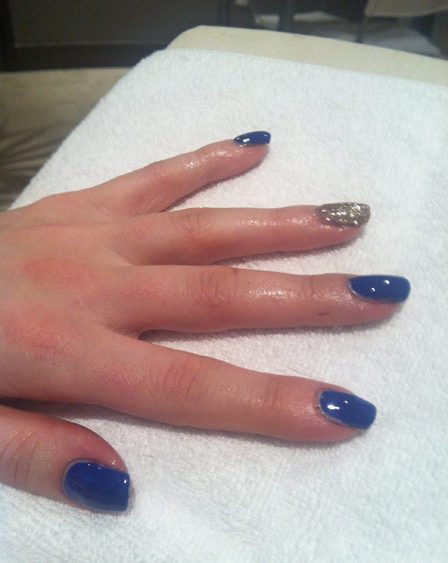 Hot blue nail trend Heather Dierkens spring