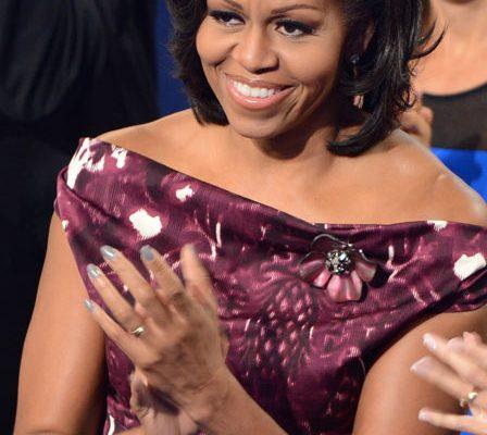 12 09 michelle obama manicure nail colour convention