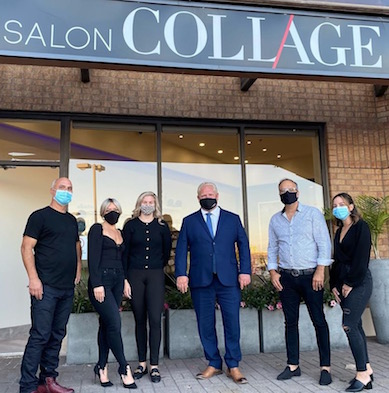 Ontario Premiere Doug Ford Visits Salon Collage