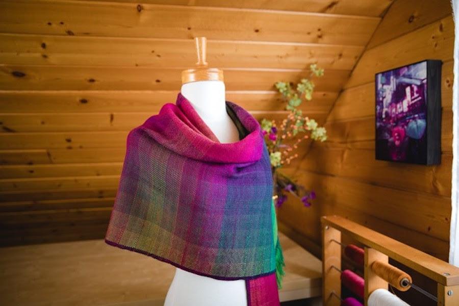 Colour Gamp shawl