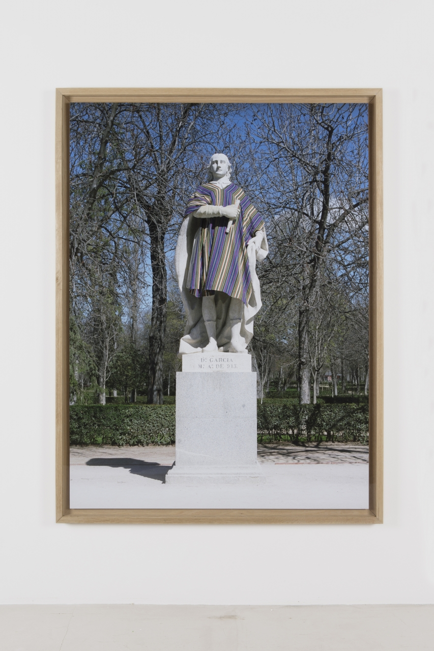 Iván Argote, Turistas (Don García), 2012. C-print, framed, 63 x 47 1/4.