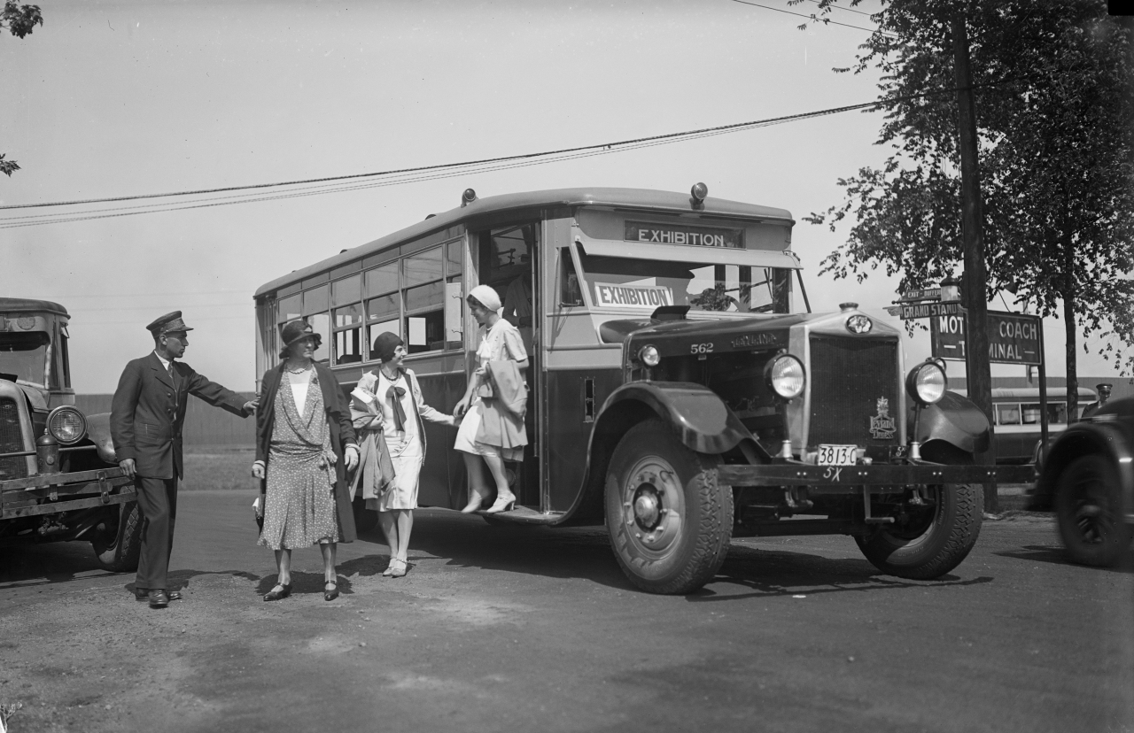TTC Archives, CNE Motorcoach, 1930 contact photography festival
