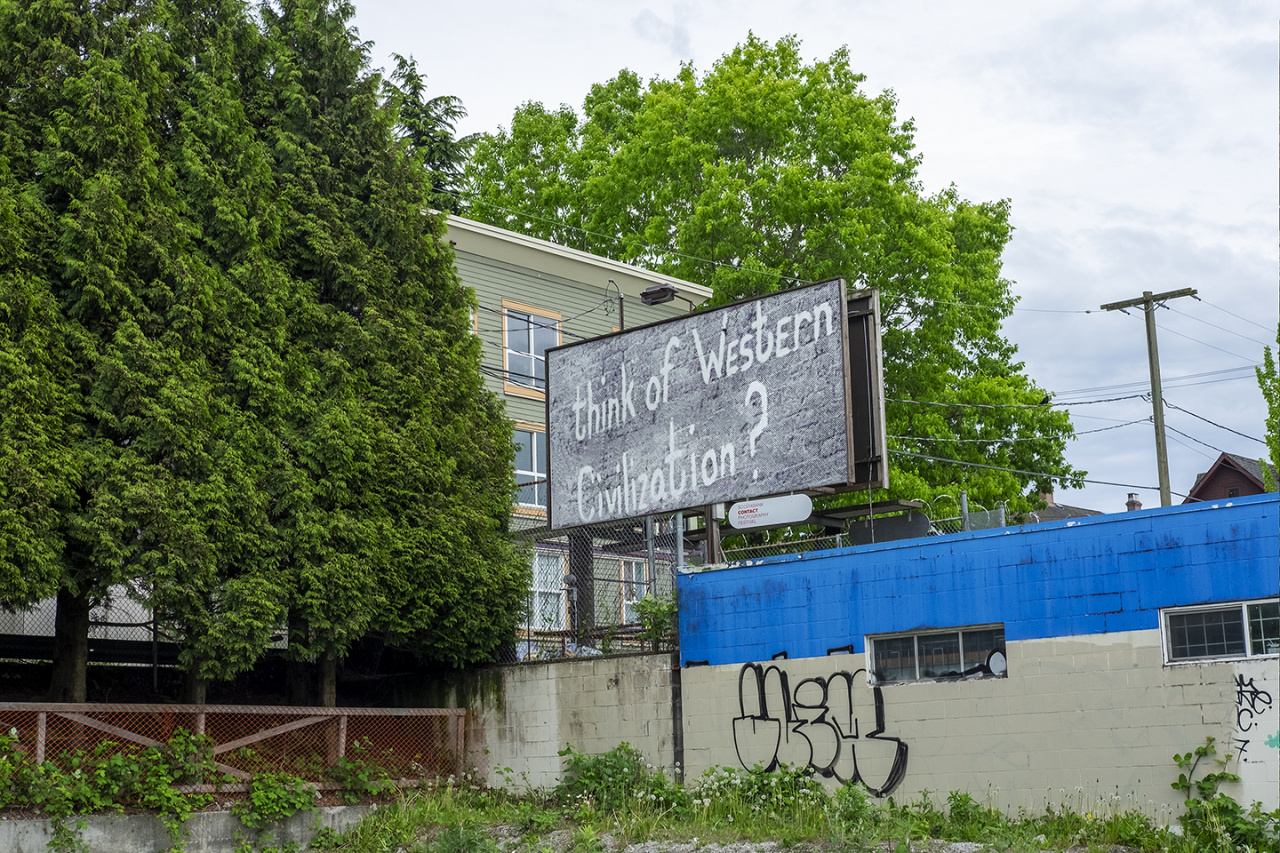 Carmen Winant, XYZ-SOB-ABC, Installation on billboards, Toronto, 2019. Photo: Aaron Friend Lettner. Courtesy CONTACT, the artist.