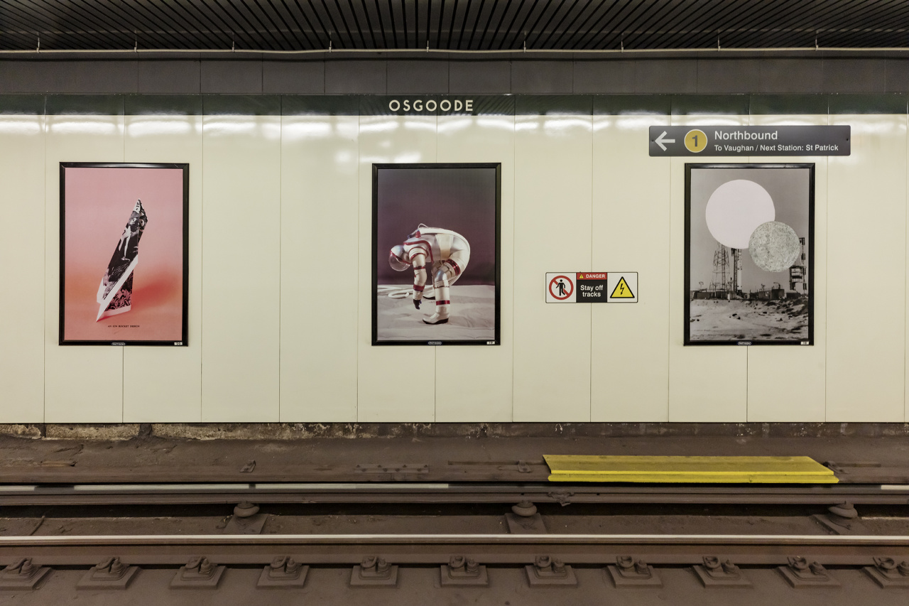 Bianca Salvo, The Universe Makers, Installation at Osgoode subway station, Toronto, 2019. Photo: Toni Hafkenscheid.