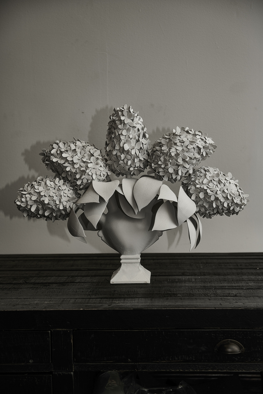 T.M. Glass, Hydrangeas, 2018. Courtesy of the artist.