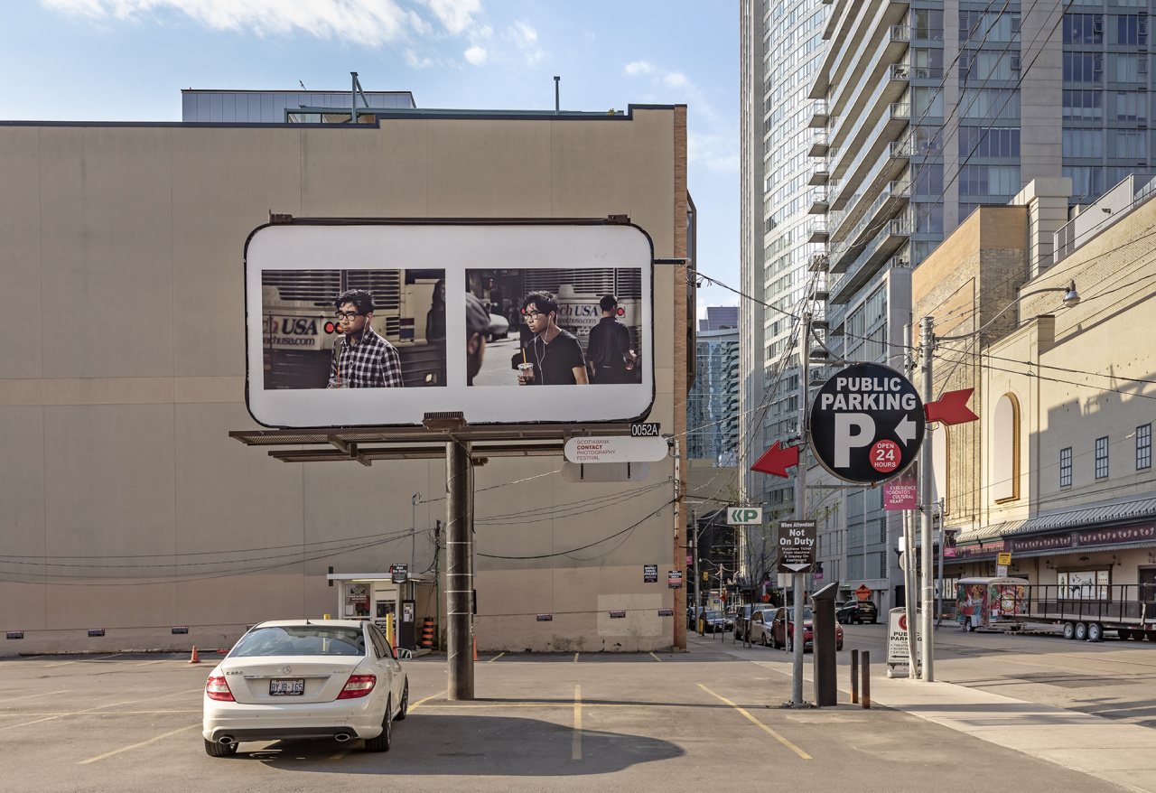 Peter Funch, 42nd and Vanderbilt, Installation on Church Street corridor, Toronto, 2019. Photo: Toni Hafkenscheid. Courtesy CONTACT, the artist and V1 Gallery.